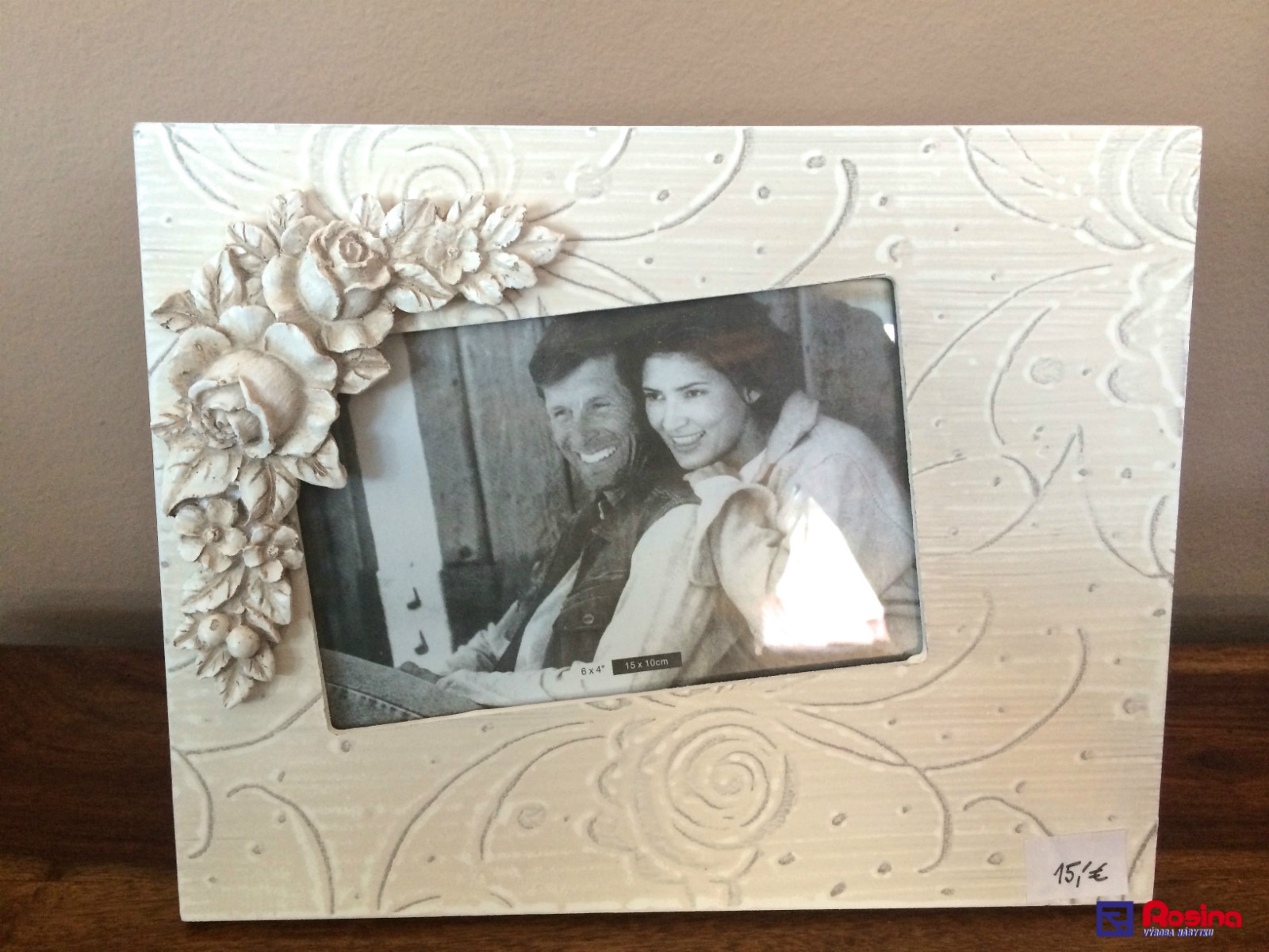 ed0039f97 Fotorámik Provence White Rose 10x15 cm | NabytokRosina.sk