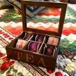 Krabička na čaj hnedá TEA -  58378ART