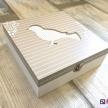 Krabička Vtáčik šedo-biela -  86370 ART