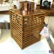 Moderný drevený Lampáš hranatý -  93366ART