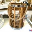 Moderný drevený Lampáš ovál veľký -  90269ART