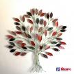 Dekoračný kovový Strom farebný Červený - 23178TRE