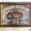 Obraz Motorka Legends Never Die -  69343ART