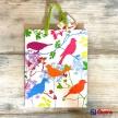 Darčeková taška farbné vtáčiky malá