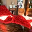 Ležadlo Luxury červené