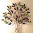 Dekoračný kovový Strom farebný Zelený -  3502800TRE