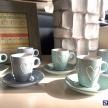 Set 6 šálok + tanierikov Srdiečko Zeleno-modré -  35050TRE