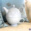 Modrý čajník so srdiečkom -  35243TRE
