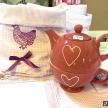 Ružový čajník so srdiečkom -  35242TRE