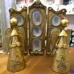 Svietnik / soška zlatý anjelik -  036739979HAR