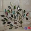 Dekoračný kovový strom - zelený 16954 TRE