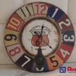 Dekoračné hodiny - farebné TRE