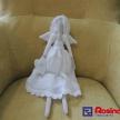 Látková bábika väčšia - anjelik - biely