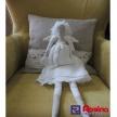 Látková bábika menšia - anjelik - biely