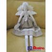 Látková bábika menšia - anjelik - zemitý