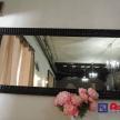 Zrkadlo -čierny lesklý rám