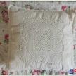 Vankúš. obliečka háčkovaná -krémová