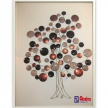 Dekoračný stromček na zavesenie - kovový 8238400 TRE