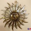 Kovové hnedo-zlaté Slnko stredné -  210760TRE