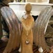Soška Drevený Anjel väčší -  001ART15525HAR