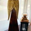 Soška Anjel drevenozlatý -  1136900TRE