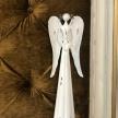 Soška Kovový Anjel biely -  015BNM0014HAR