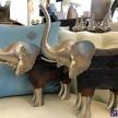 Soška Strieborno-drevený Slon -  230229TRE