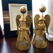 Svietnik / soška zlatý anjelik so srdcom - 739979TRE