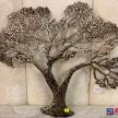 Zlato-čierny kovový Strom - 15060TRE