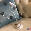 Stojan / Vešiak na šperky biely Provence Vtáčik -  6Y1416SKW TRE