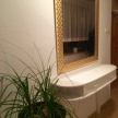 Konzolový stolík Karin + zlaté zrkadlo