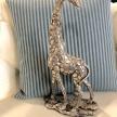 Soška Žirafa strieborná moderná - ART