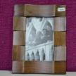 Drevený hnedý fotorámik ART - 1Ox15 cm