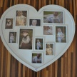 Fotorámik Srdce White -  veľké, 50cm