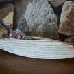 Dekoračná misa - biela TRE, 45 cm