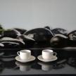 Set šálka + tanierik Provence biela malá - HAR