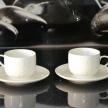 Set šálka + tanierik Provence biela stredná - HAR