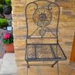 Záhradná kovová stolička