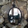 Zrkadlo kovové Rustikal oval - 18011TRE