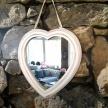 Zrkadlo Provence Srdce biele stredné- 4598100TRE