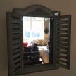 Zrkadlo Okienko drevenné hnedé - 5646400TRE