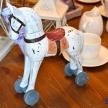 Soška Koník drevený biely Provence malý Patina - 298255-050TRE