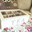 Skrinka / Box na čaj TEA biela  - 93360ART