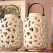 Svietnik Porcelánový biely lesk - 92165ART