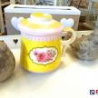 Čajový hrnček so sitkom Rose žltý, ART 98577