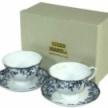Porcelánový set 2+2 modrý, ART 98578