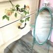 Zrkadlo Provence kov.zelené s vtáčikom - ART 93291