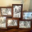 Rodinný fotorámik drevený hnedý stredný - 61013ART