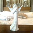 Soška Biely Anjelik modliaci - 16166TRE