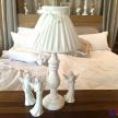 Lampa Provence biela s mašličkou - 16455TRE